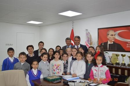 Atatürk İlköğretim Okulu Öğrencileri Başkanımızı Ziyaret Etti.