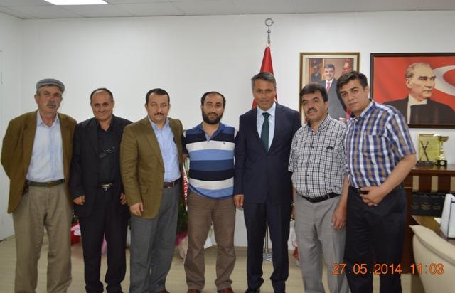 Çalcıören Köyü Derneği ve Muhtarı Başkanımızı ziyaret etti.
