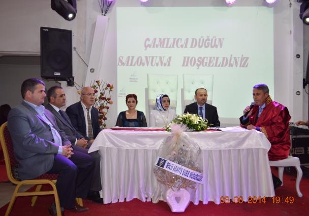 Başkanımız Hasan Sopacı Belediye Başkanı olduktan sonraki ilk nikâhını kıydı.